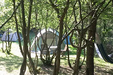 Typical camping pitches
